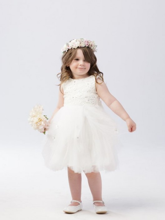 2889053d84d Tip Top 5654 Flower Girls Dress with Floral Lace  French Novelty
