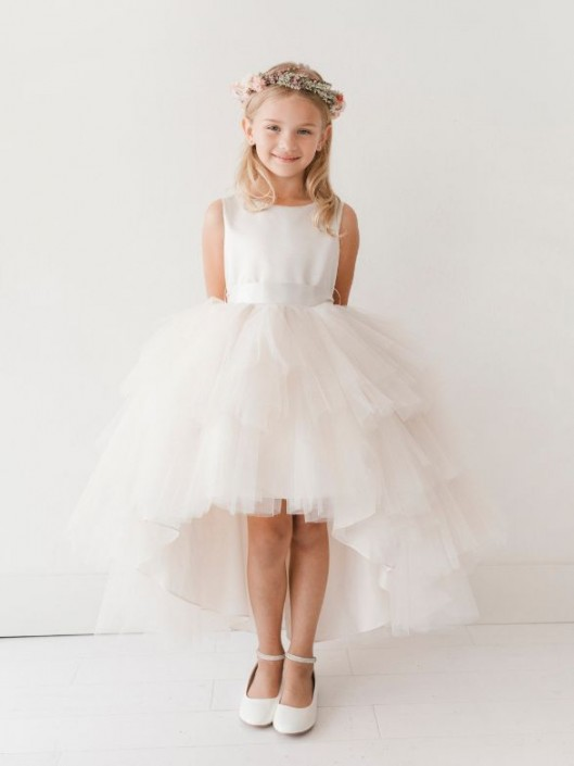 0c4748a27d0fc Tip Top 5658 High Low Flower Girls Dress: French Novelty