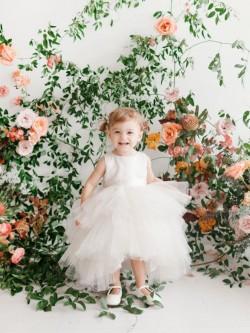 16ba745bb785 Tip Top 5658S Infants High Low Flower Girls Dress
