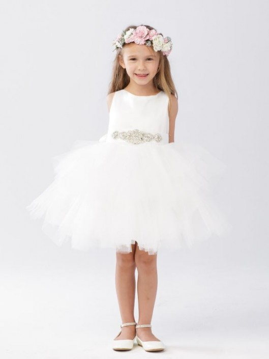 19a8aef878f Tip Top 5687 Ruffle Tulle Flower Girls Dress  French Novelty