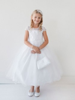 ad7cceeafaa Tip Top 5695 Short Sleeve Flower Girls Dress