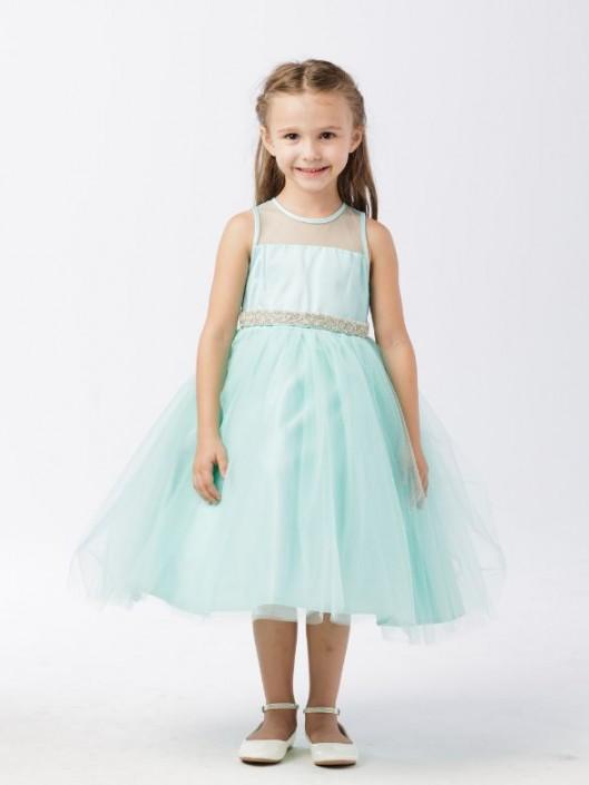 d7679e9f471 Tip Top 5702 Flower Girls Dress with Rhinestone Belt  French Novelty