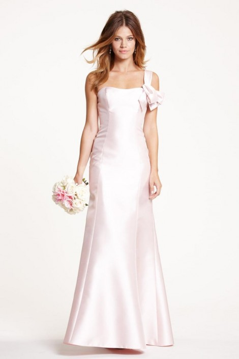 e14d2d00b3fd Watters 5719 One Shoulder Mikado Bridesmaid Gown: French Novelty