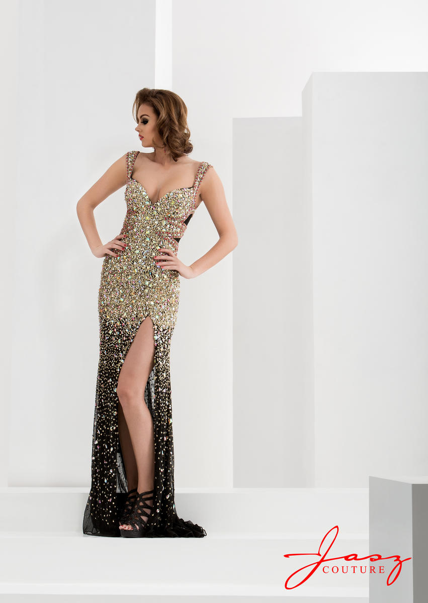Jasz Couture 5731 Formal Dress With Heavy Beading French