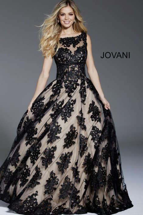 d97cfc1033 Jovani 57821 Evening Dress with Cutout Back: French Novelty