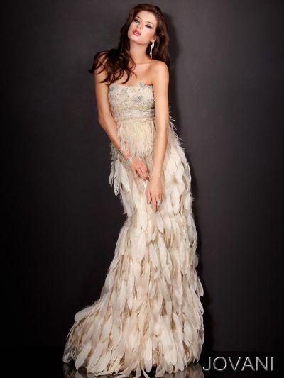 Jovani Feather Dress