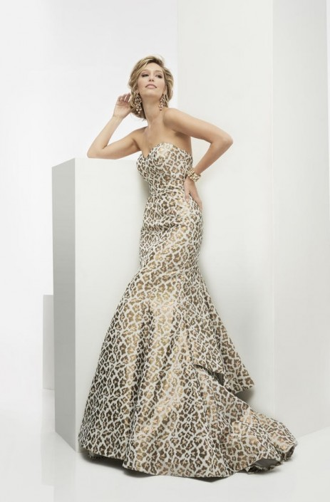 Jasz Couture 5911 Leopard Print Mermaid Dress: French Novelty
