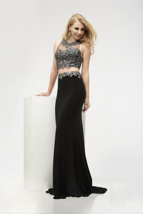 Jasz Couture 5916 Racer Back 2 Piece Gown: French Novelty