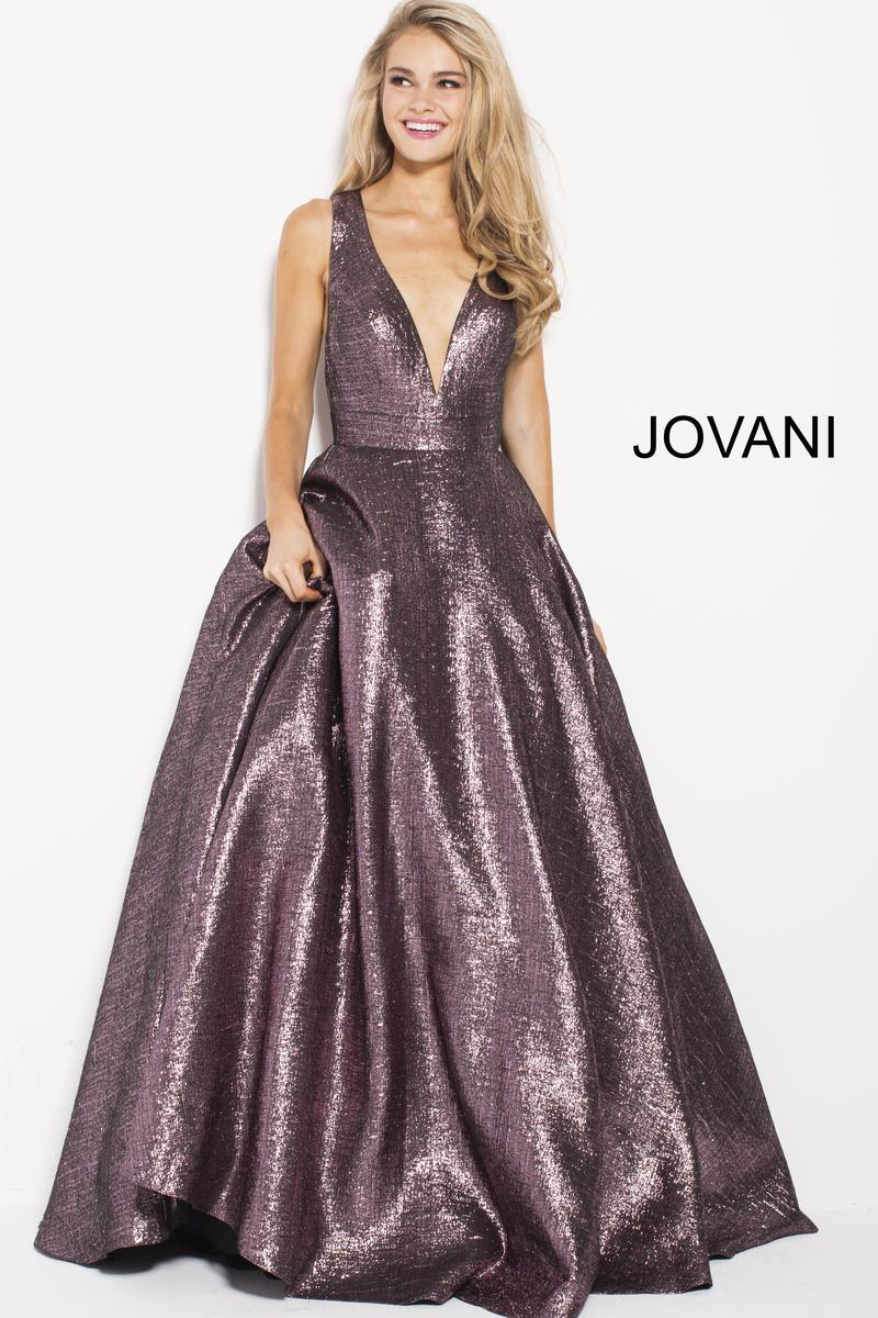 jovani 59210 metallic ball gown french novelty