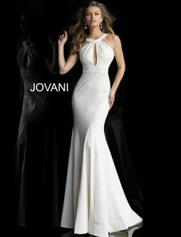 d736907b308 Jovani 59907 Keyhole Fitted Prom Gown