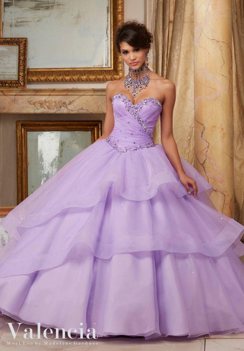 valencia 60001 flounced organza quinceanera dress french