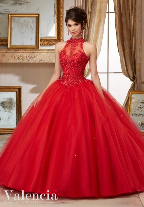 6e0cb9151d6 Valencia 60004 Tulle Quinceanera Dress  French Novelty