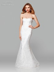 a4c27f86db Size 14 Ivory Clarisse White Collection 600105 Wedding Dress