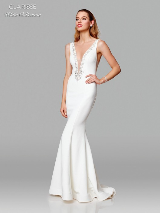 Clarisse White Collection 600129 Sexy Casual Wedding Dress