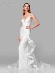 8fae3ce7854 Size 2 Ivory Clarisse White 600141 Wedding Dress with Removable Train