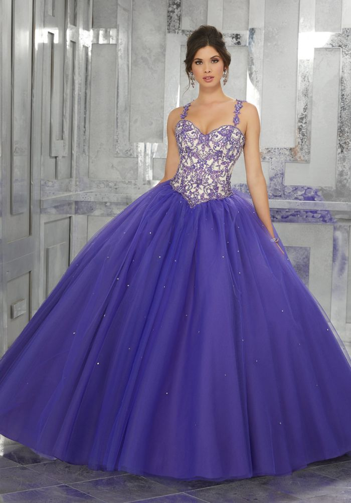 Valencia 60027 Embroidered Beaded Quinceanera Dress With