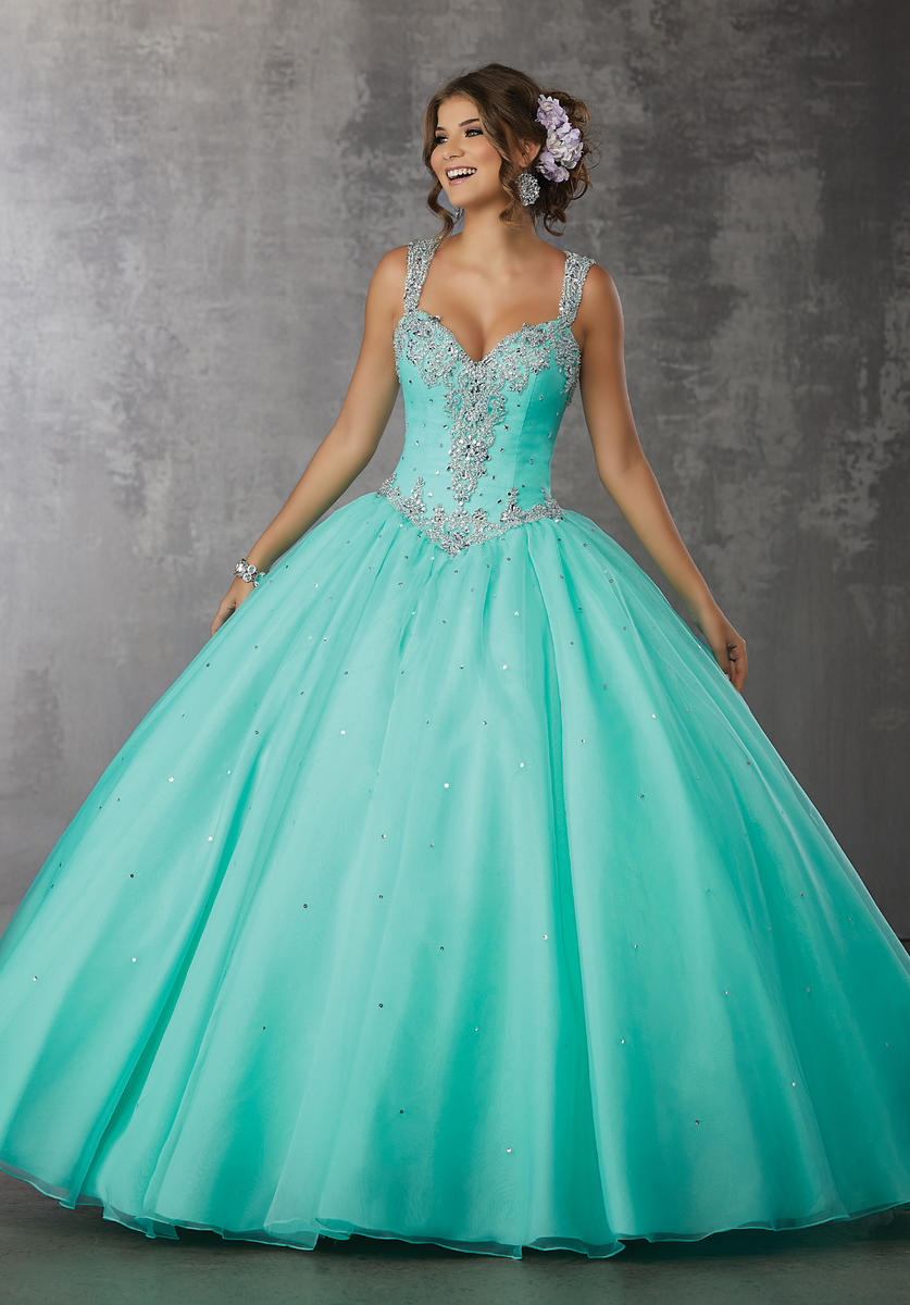 Valencia 60037 Sheer Jeweled Back Quinceanera Gown French