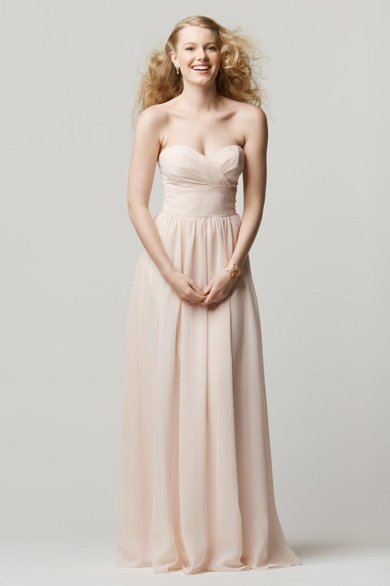 Size 14 ice pink wtoo 601 crystal chiffon bridesmaid gown for Immediate resource wedding dresses