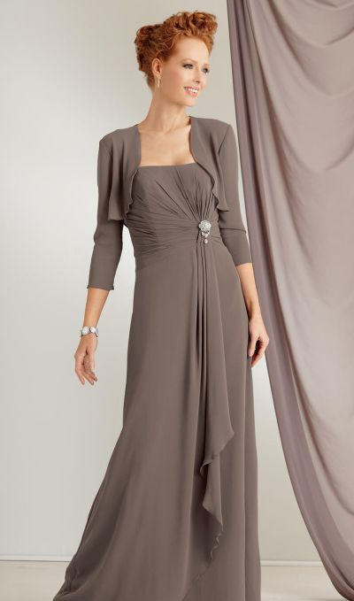 Caterina by Jordan 6011 Chiffon Mother of the Bride Jacket Dress ...