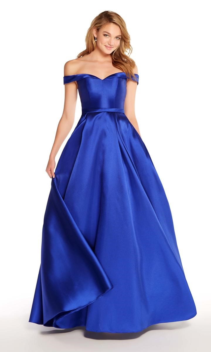 alyce paris 60111 off the shoulder prom dress french novelty