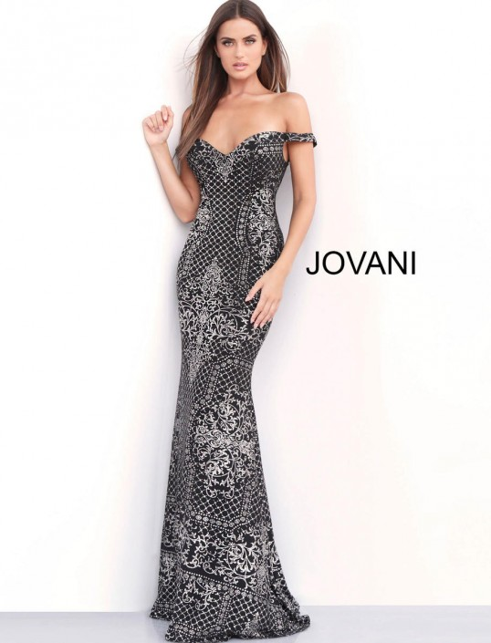 d795892077fc9 Jovani 60139 Off Shoulder Prom Gown: French Novelty