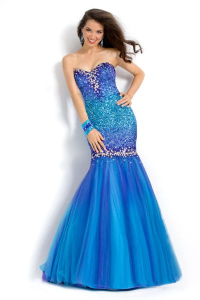 09b55d8f77 Party Time 6019 Ombre Sequin Formal Dress  French Novelty