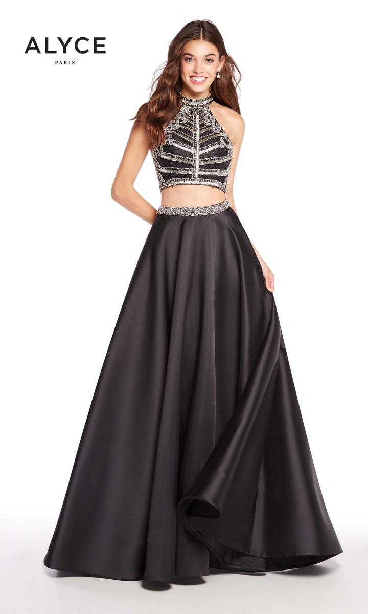 Alyce Paris 60195 Sheer Racerback 2pc Prom Dress French