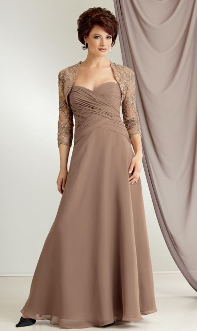 Caterina 6020 by Jordan Mother of the Bride Dress with Lace Jacket ...