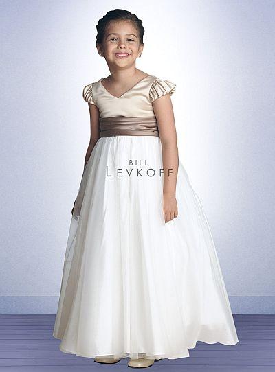 Bill Levkoff Flower Girls Dress with Ivory Bobbinet Skirt 60201 ...