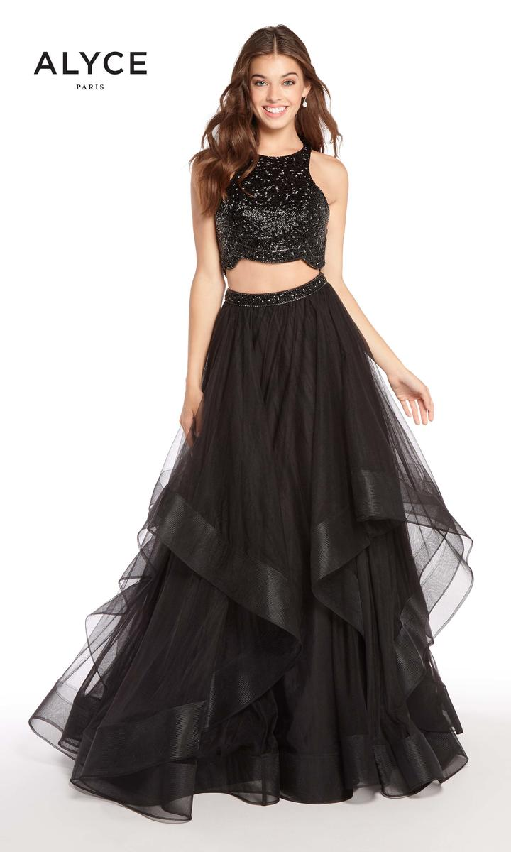 Alyce Paris 60207 Tiered 2 Piece Prom Dress French Novelty