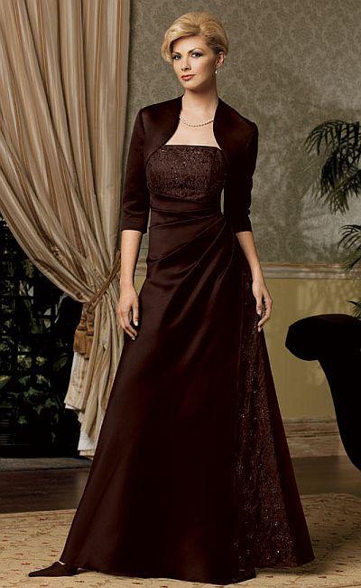 Caterina Collection By Jordan Mock Wrap Mob Jacket Dress