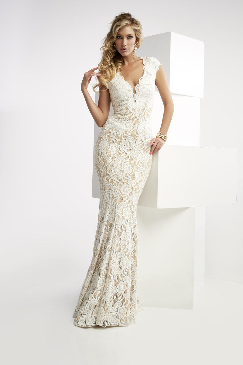 Jasz couture 6025 lace gown with cutout back french novelty for French couture dresses