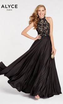 8e8ac3b9f65 Alyce Paris 60298 Lace Top Prom Dress