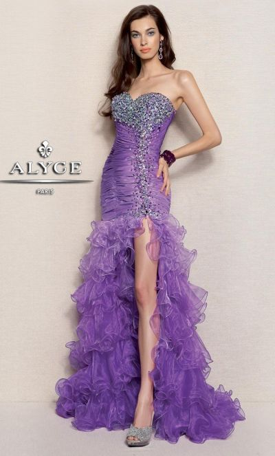 alyce 6037 paris ombre taffeta and organza evening dress french novelty. Black Bedroom Furniture Sets. Home Design Ideas