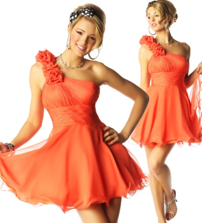 MacDuggal Homecoming Amazing Short Ruffle Dress 6074N: French Novelty