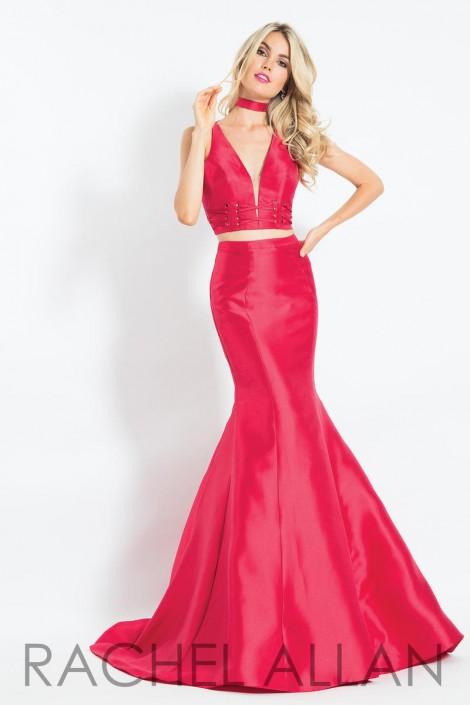 2e35d8477ebef Rachel Allan 6098 Open Back 2 Piece Mermaid Dress: French Novelty