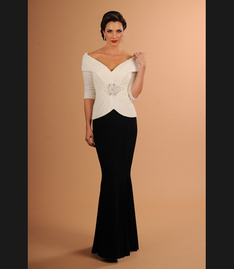 Daymor Couture 610 Off The Shoulder Mother Of Bride Dress