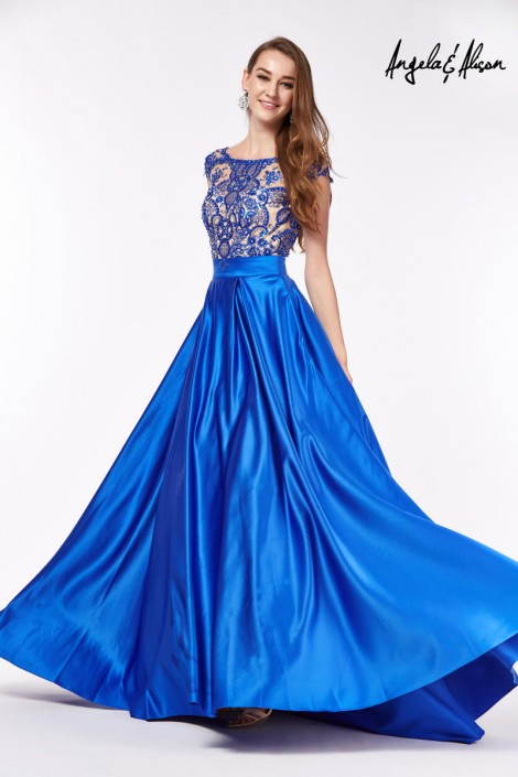 Angela and Alison 61061 Paisley Beaded Prom Gown: French Novelty