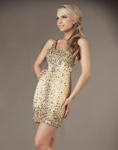 Mac Duggal Nude Cocktail Dress 61076d French Novelty