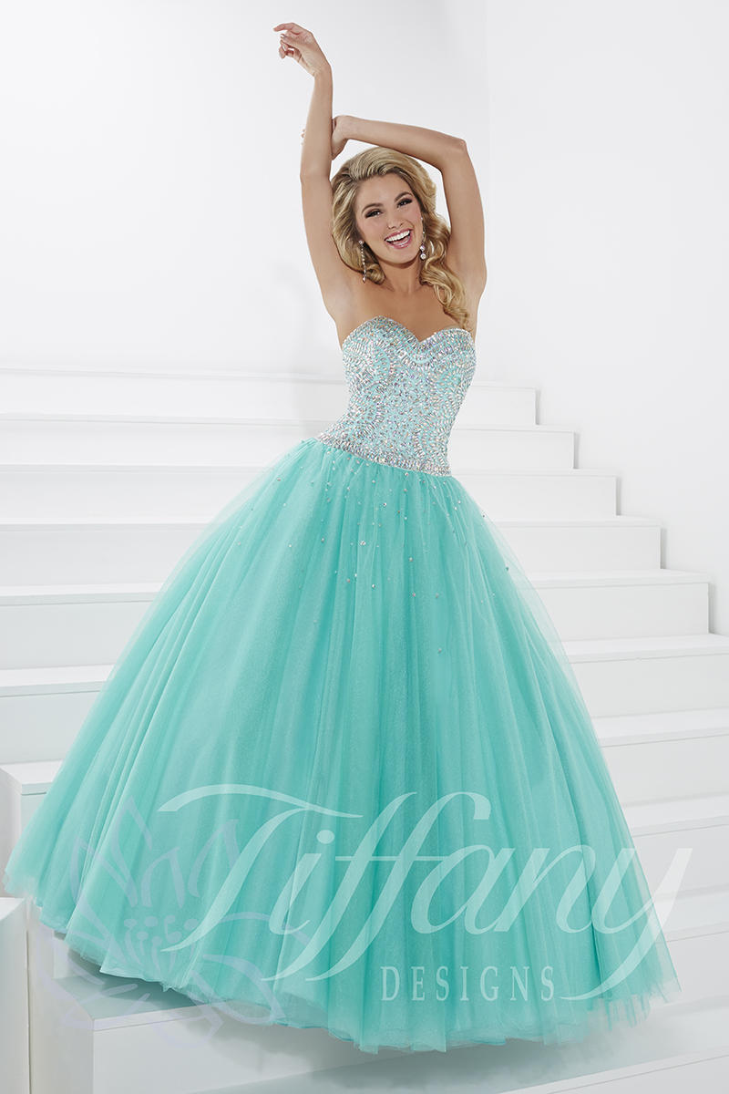 Tiffany Presentation 61137 Shimmering AB Stone Ball Gown: French Novelty
