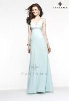Faviana 6120 Beaded Empire Evening Dress image