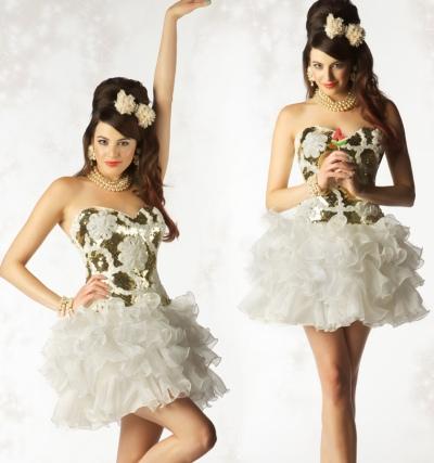 Mac Duggal Homecoming Ruffle Short Dress 6124N: French Novelty