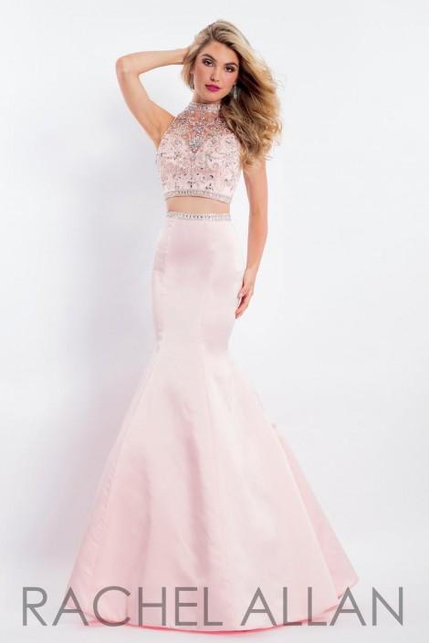 2581fc73fc5ff Rachel Allan 6133 Beaded Sheer 2 Piece Prom Dress: French Novelty