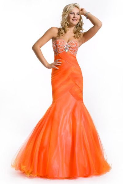 73ecf2ec5f Party Time 6134 Ombre Soft Tulle Mermaid Dress  French Novelty