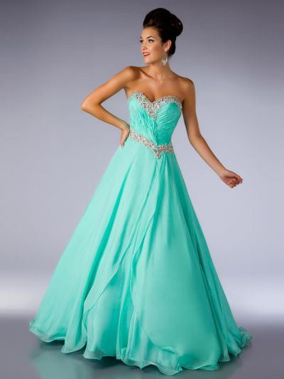 Ballgowns by MacDuggal 61404H Flowing Gown: French Novelty