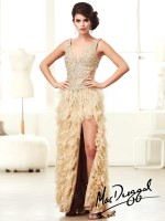 Mac Duggal 61631M High Low Feathers Party Dress image