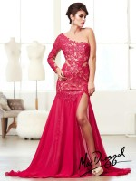 Mac Duggal 61674M Lace Illusion Mermaid Dress image