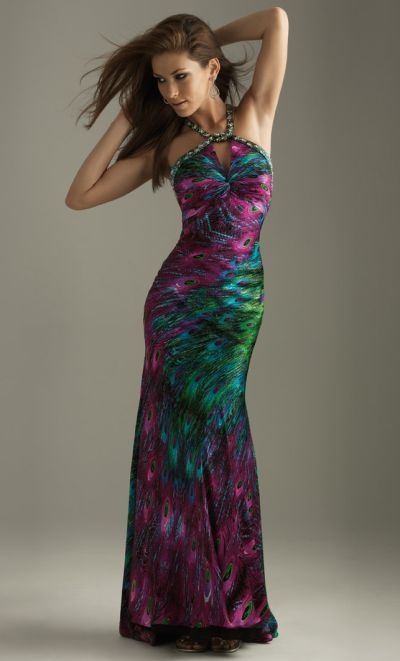 Peacock Evening Dress Images amp Pictures Becuo