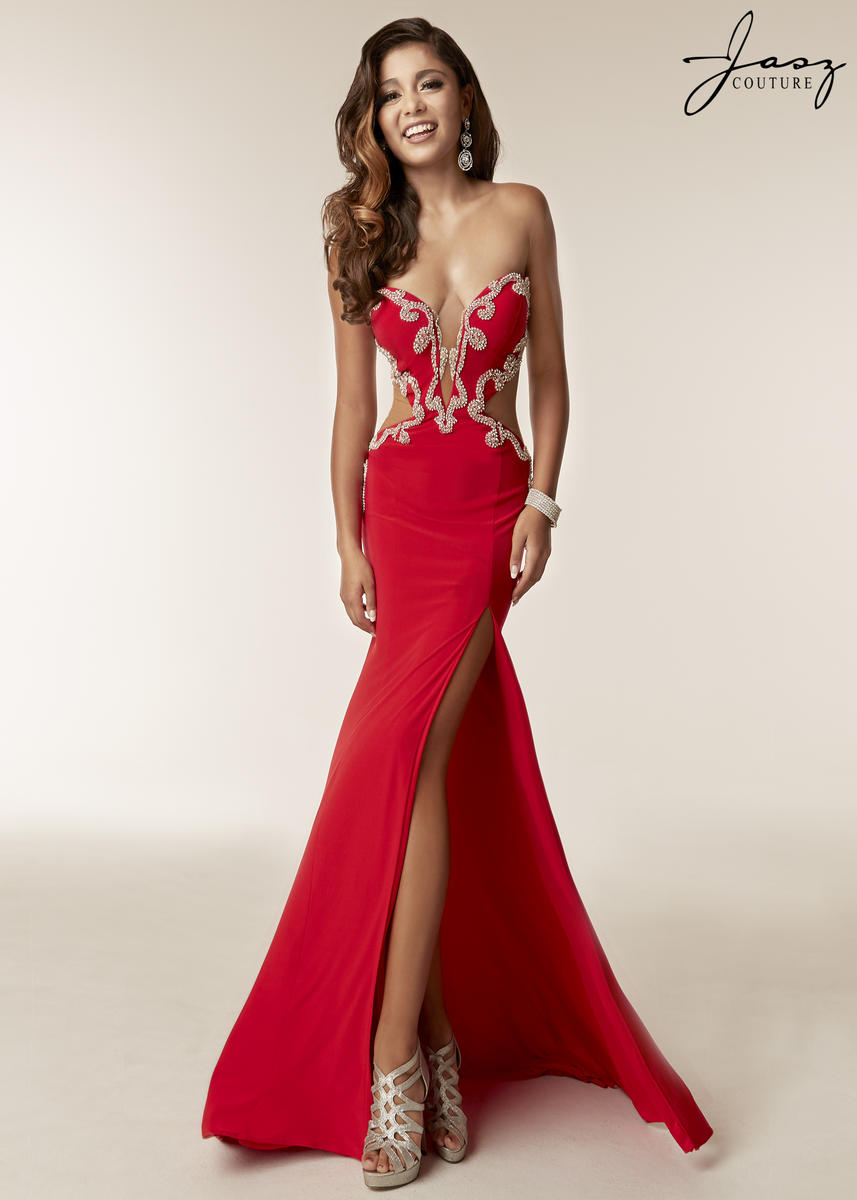 135daabac7 Jasz Couture 6230 Prom Gown with Cutout Sides  French Novelty