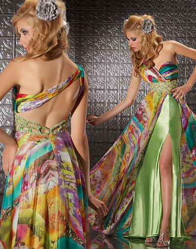 MacDuggal Prom Tie-Dye Prom Dress with Intricate Cut-Outs 6250M ...